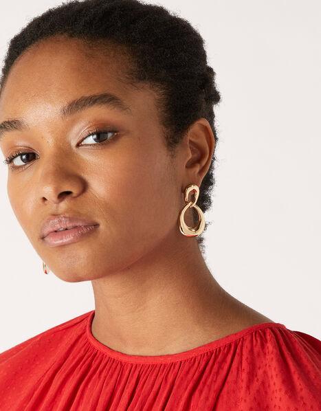 Twisted Infinity Drop Earrings, , large