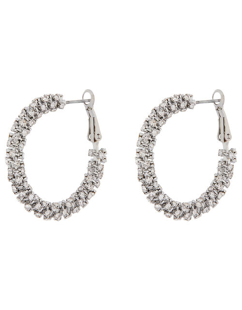 Cup Chain Wrapped Hoop Earrings, , large