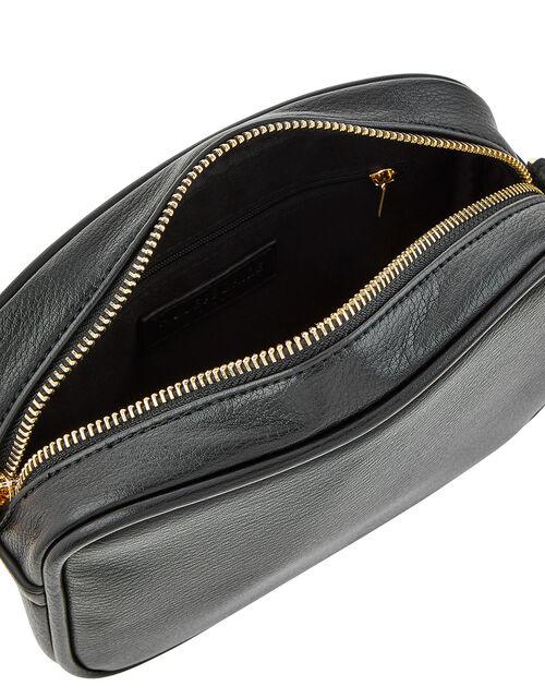 Macrame Strap Camera Bag, Black (BLACK), large