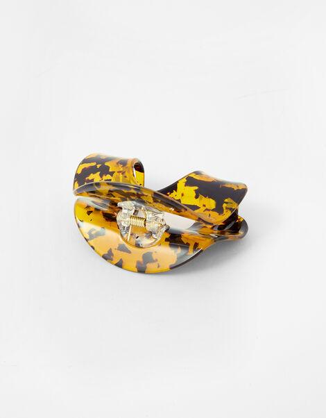 Oval Tortoiseshell Bulldog Clip, , large
