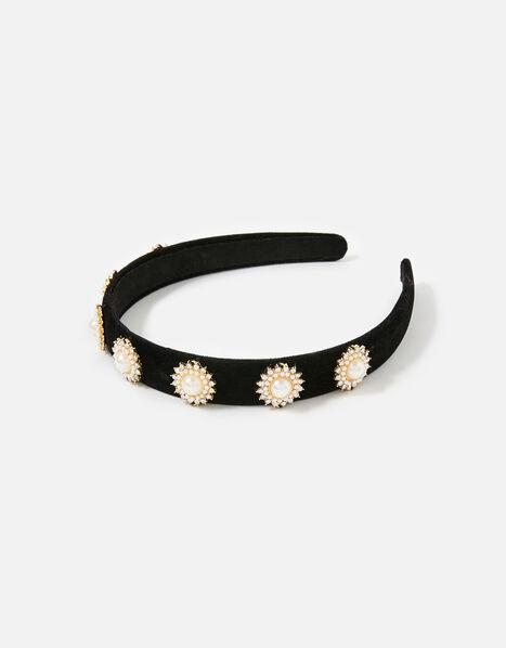 Pearl and Diamante Headband, , large