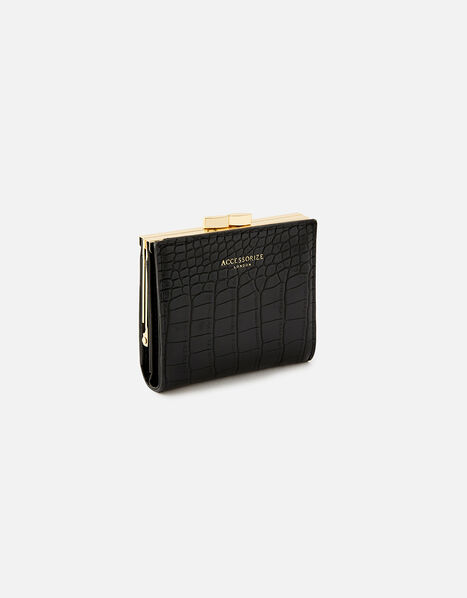 Bella Clip Frame Wallet  Black, Black (BLACK), large