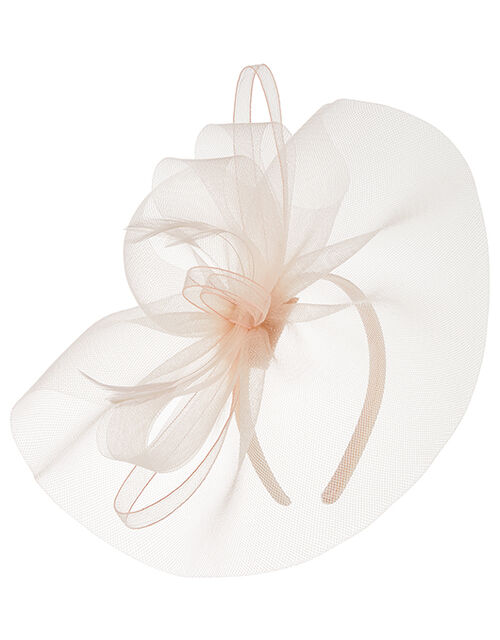 Mia Oversized Bow Fascinator, Pink (PALE PINK), large