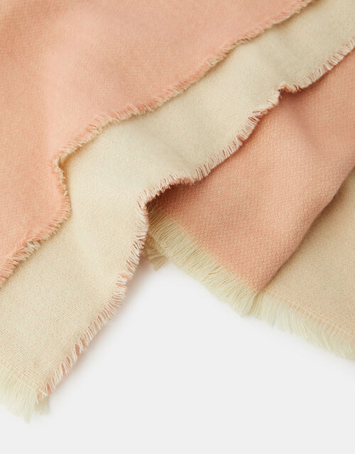 Wells Antibacterial Two-Tone Blanket Scarf Camel and Grey, Pink (PINK), large