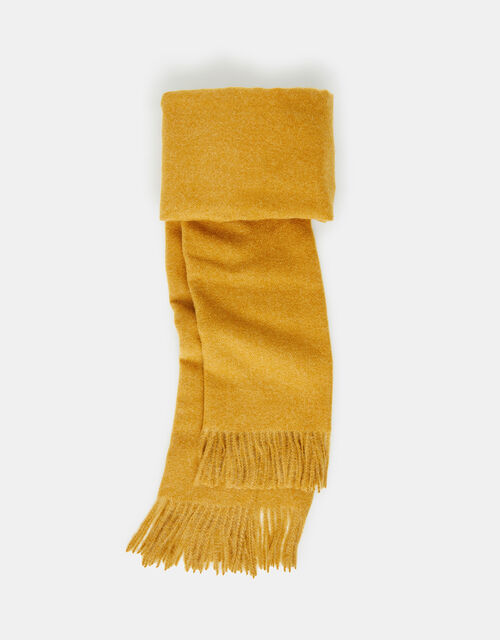 Holly Super-Soft Blanket Scarf Ochre, , large
