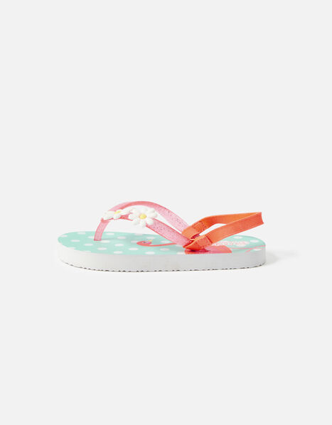 Flora Flamingo Daisy Flip Flops Multi, Multi (BRIGHTS-MULTI), large