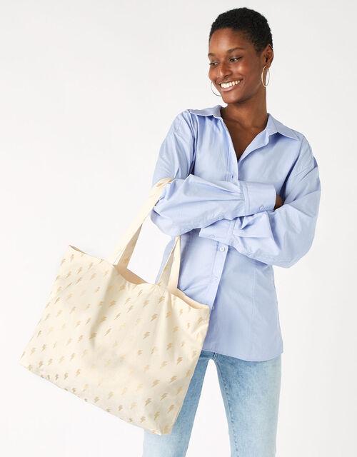 Lightning Bolt Shopper Bag, , large