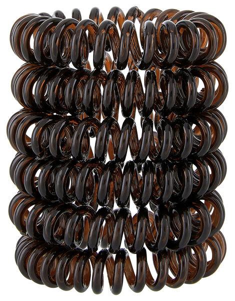 5x Telephone Hair Ponies Brown, Brown (BROWN), large