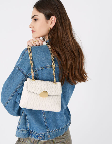 Pleated Ayda Bag Cream, Cream (CREAM), large