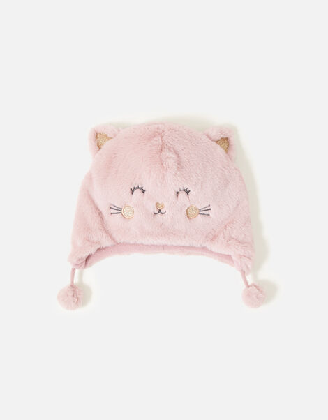 Fluffy Cat Chullo Hat Pink, Pink (PINK), large