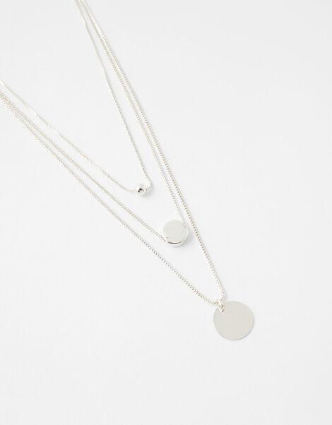 Discy Layered Necklace, , large