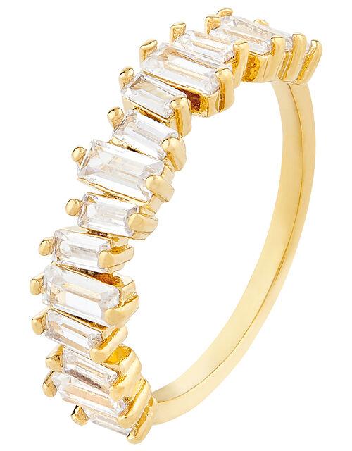Baguette Gem Ring, White (CRYSTAL), large