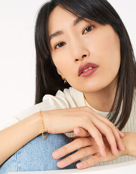 Gold-Plated Bobble Chain Bracelet, , large