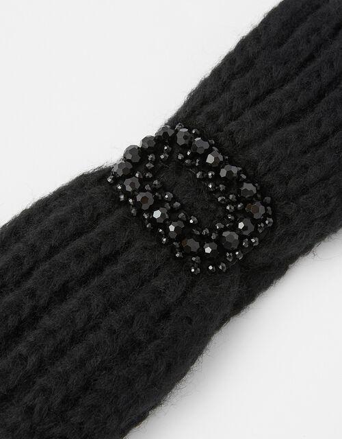 Jewelled Knit Bando, Black (BLACK), large