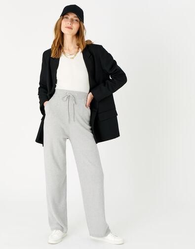 LOUNGE Straight Leg Knit Joggers Grey, Grey (GREY), large