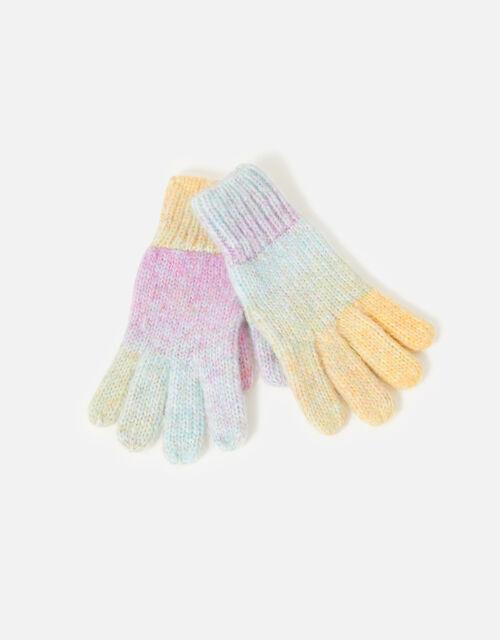 Girls Space Dye Gloves, Multi (BRIGHTS-MULTI), large