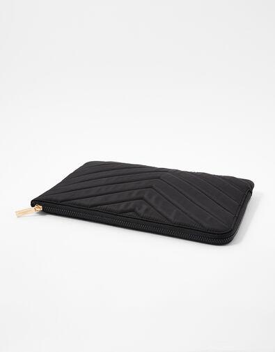 Quilted Nylon Laptop Case Black, Black (BLACK), large
