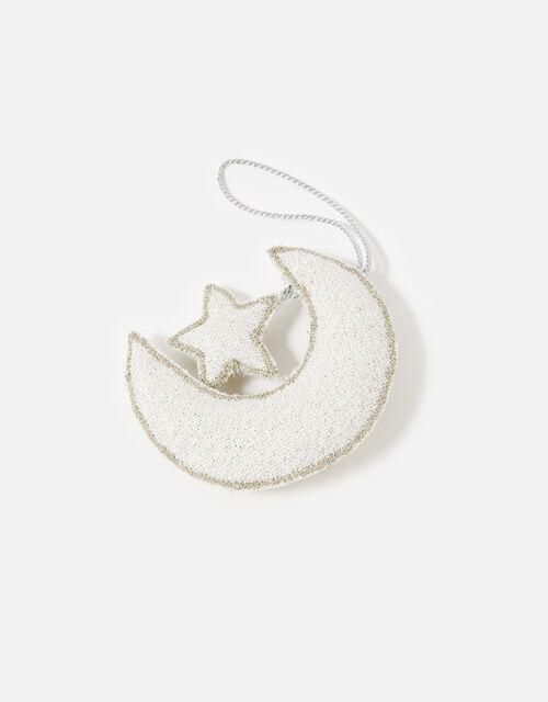 Embellished Moon and Star Hanging Decoration, , large