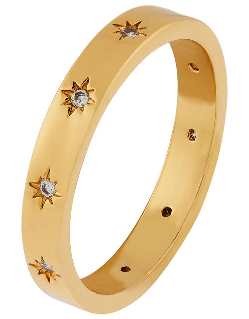 Gold-Plated Sparkle Band Ring, Gold (GOLD), large