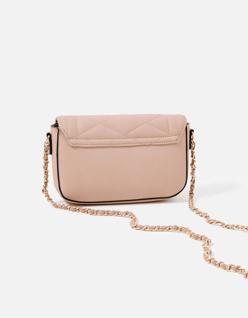 Chrissy Quilted Chain Cross-Body Bag, Pink (PINK), large