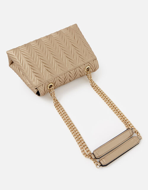 Pleated Ayda Bag, Gold (GOLD), large