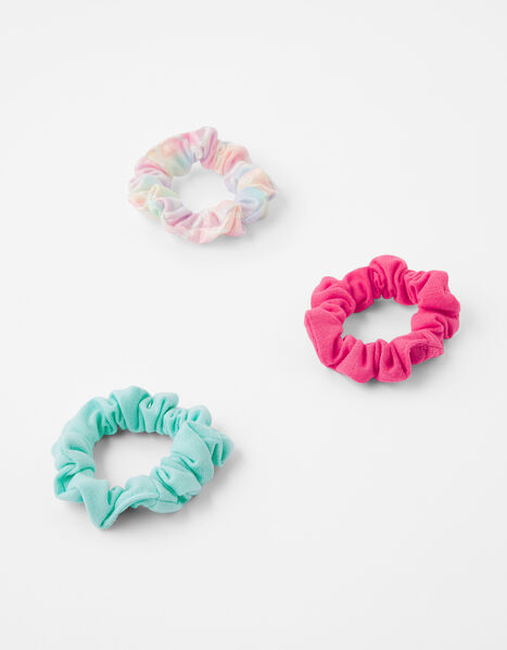 Coloured Hair Scrunchie Set, , large