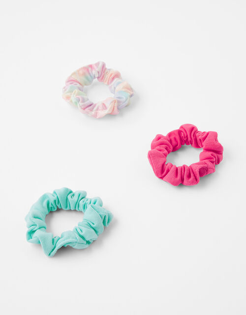 Coloured Hair Scrunchie Set, , large
