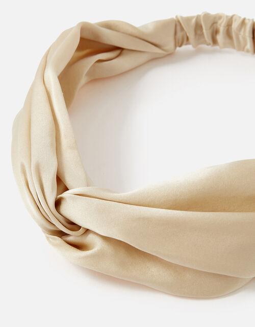Twist Bando in Pure Silk, , large