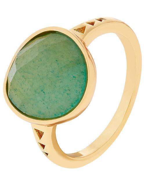 Healing Stones Aventurine Ring, Green (GREEN), large