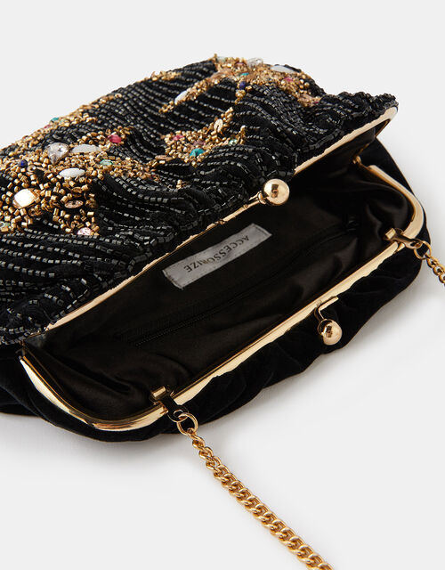 Star Embellished Clutch Bag, , large