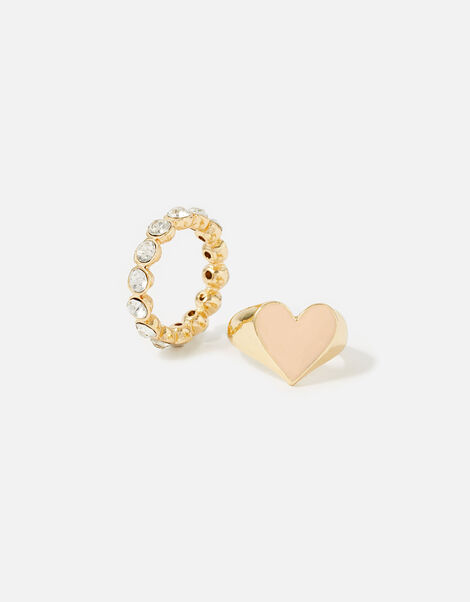 Feel Good Heart and Crystal Rings Multi, Multi (PASTEL-MULTI), large