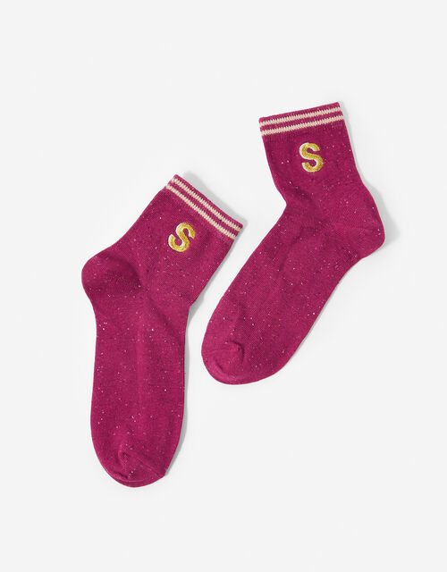 Initial Ankle Socks - S, , large