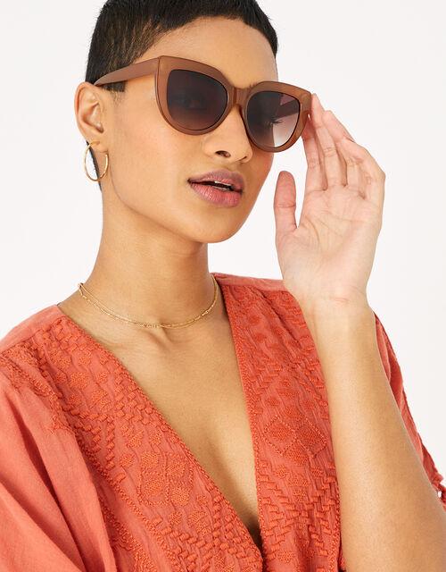 Claire Angular Cateye Sunglasses, , large