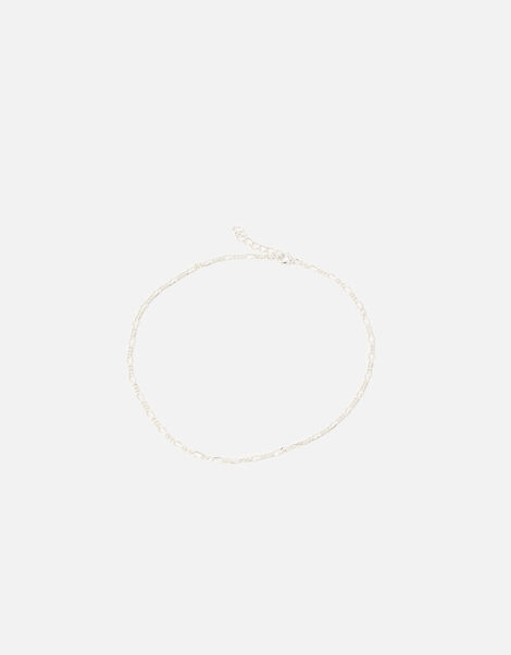 Sterling Silver Chain Anklet, , large