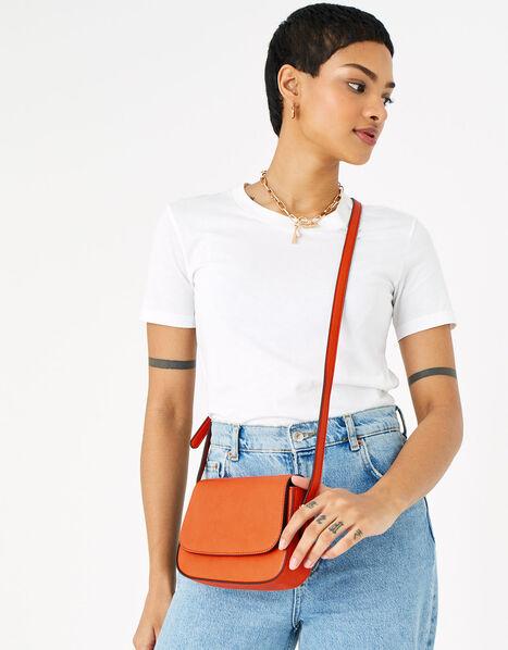 Ruby Saddle Cross-Body Bag  Orange, Orange (ORANGE), large