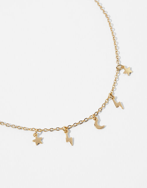 Gold-Plated Celestial Station Charm Bracelet, , large