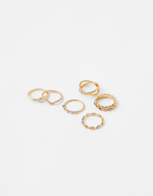 Sparkle Stacking Ring Set, White (CRYSTAL), large