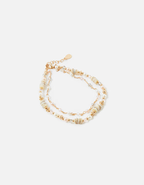 Seychelles Beaded Layered Anklet , , large