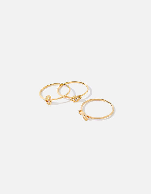 Gold-Plated Talisman Stacking Rings, Gold (GOLD), large