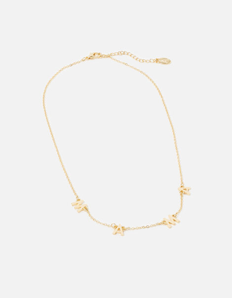 Mama Pendant Necklace Gold, Gold (GOLD), large