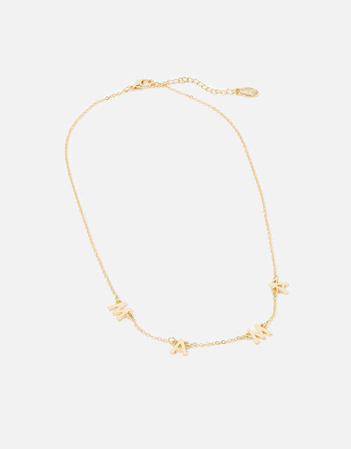 Mama Pendant Necklace, Gold (GOLD), large