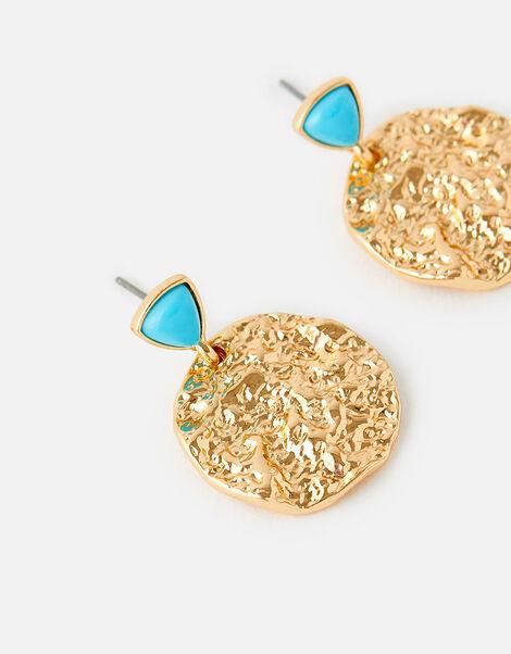 Island Vibes Beaten Short Drop Earrings , , large