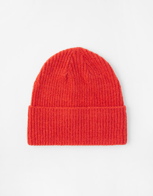 Soho Knit Beanie Hat, Red (RED), large