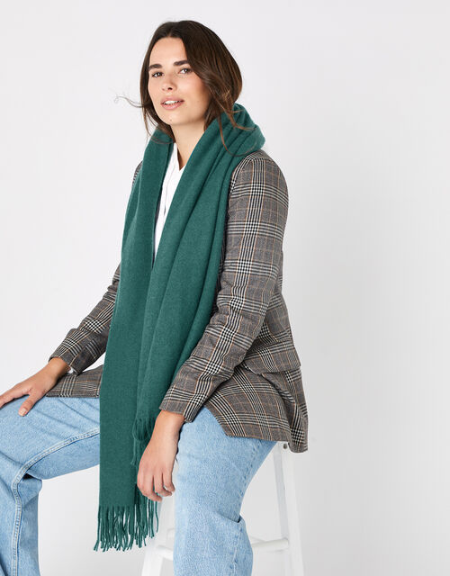 Holly Super-Soft Blanket Scarf Teal, , large