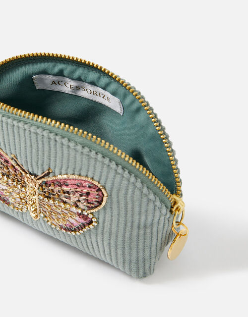 Embellished Butterfly Coin Purse, Green (GREEN), large