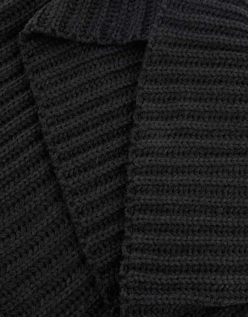 Chunky Knit Snood, Black (BLACK), large