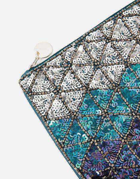 Diamond Sequin Pouch Bag, , large
