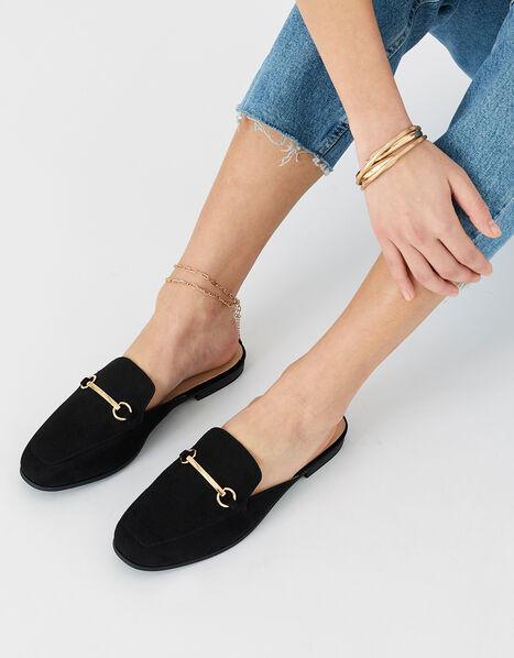 Backless Loafers Black, Black (BLACK), large