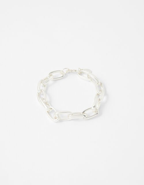 Simple Medium Chain Bracelet, Silver (SILVER), large