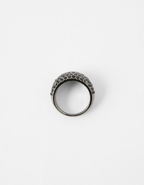 Portofino Chunky Gem Ring, Black (BLACK), large
